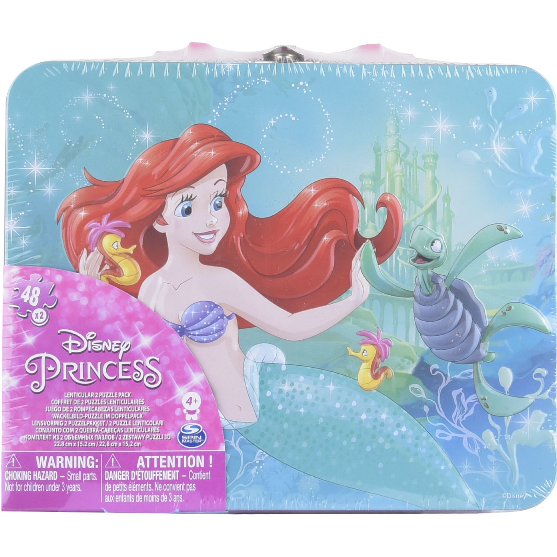 Princesas ROMPECABEZA LONCHERA PACK X 2-48PZAS Varios 3-D Puzzles