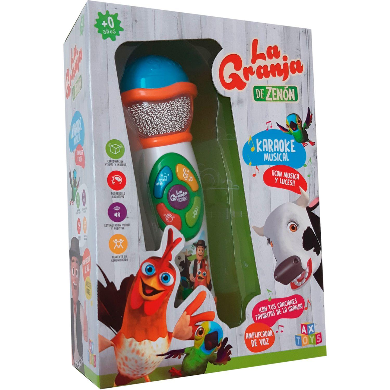 LA GRANJA DE ZENON Microfono Karaoke Incl. Luces Y Sonido Varios Accesorios