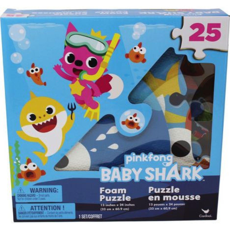 BABY SHARK Rompecabezas Foam 25 Pzas Baby Shark Varios Rompecabezas 3-d