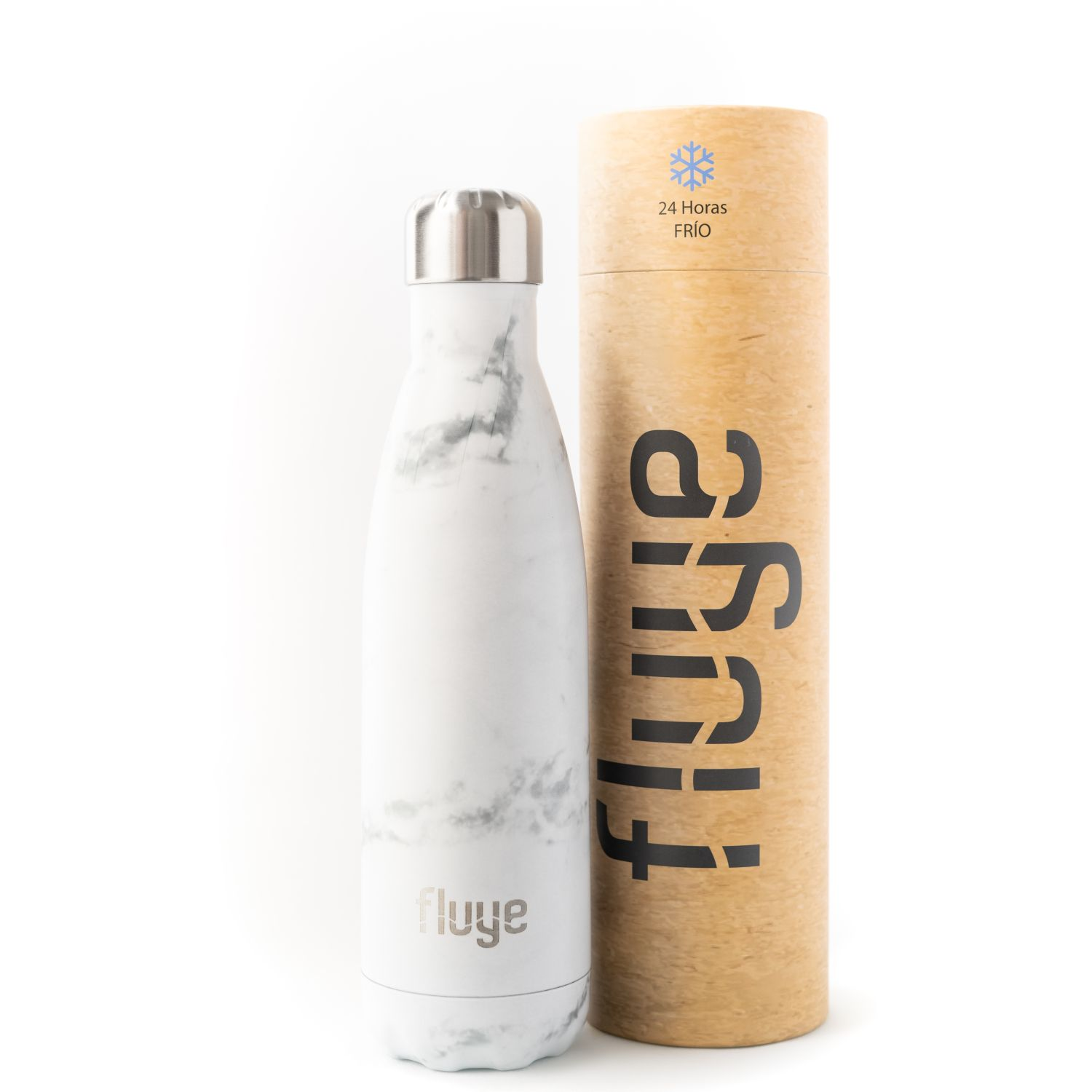 Fluye Bottle Fb White Marble 500ml Blanco Botellas de agua