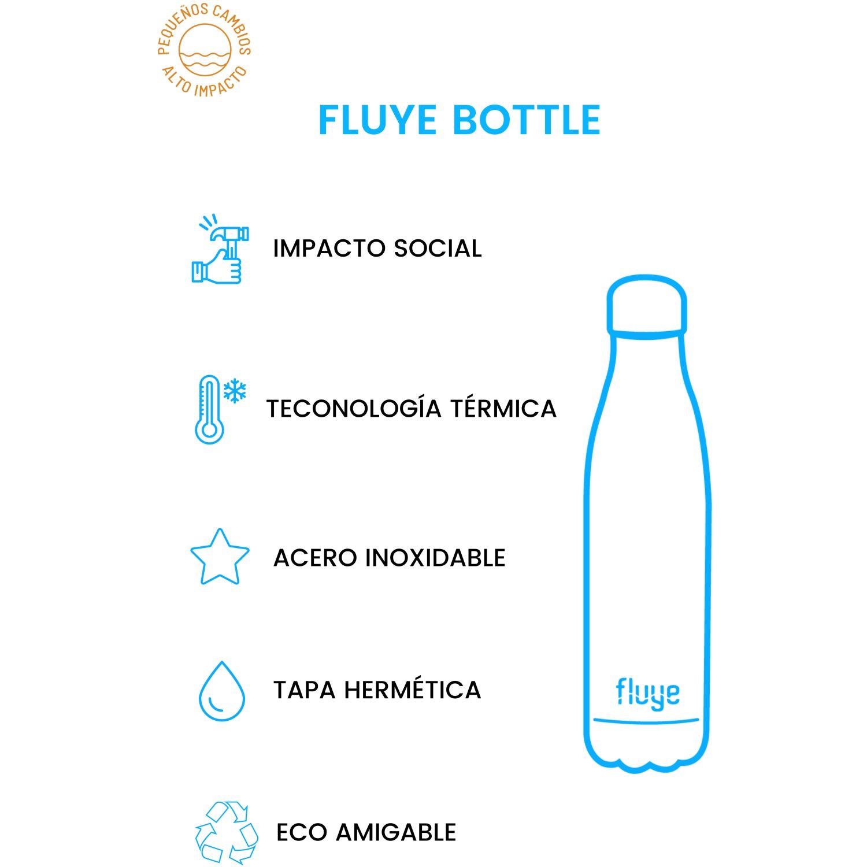 Fluye Bottle Fb White Marble 500ml