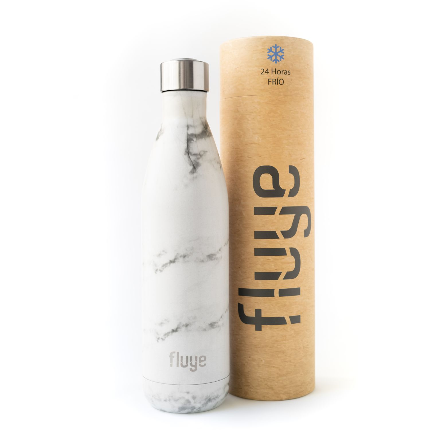 Fluye Bottle Fb White Marble 750ml Blanco Botellas de agua