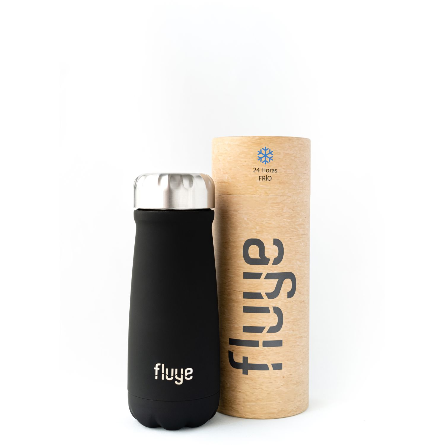 Fluye Bottle Fluye Go Curitiba 500ml Negro Botellas de Agua