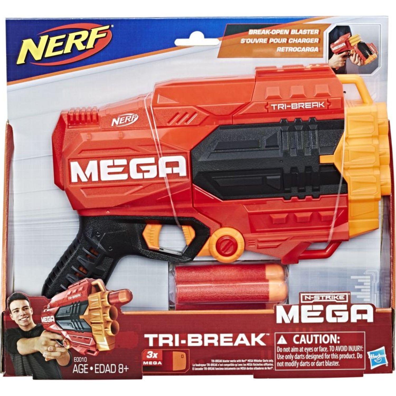 NERF ner mega tri break Varios Las pistolas de agua, Blasters y maduradores