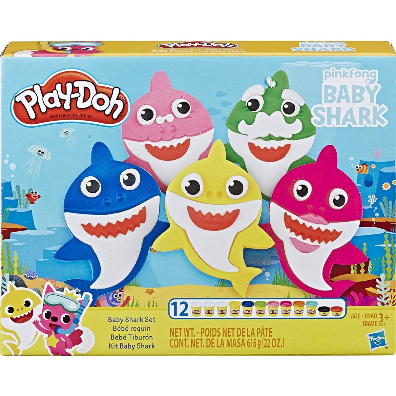 PLAY-DOH PD Baby Shark Varios Palitos para moldear y esculturas