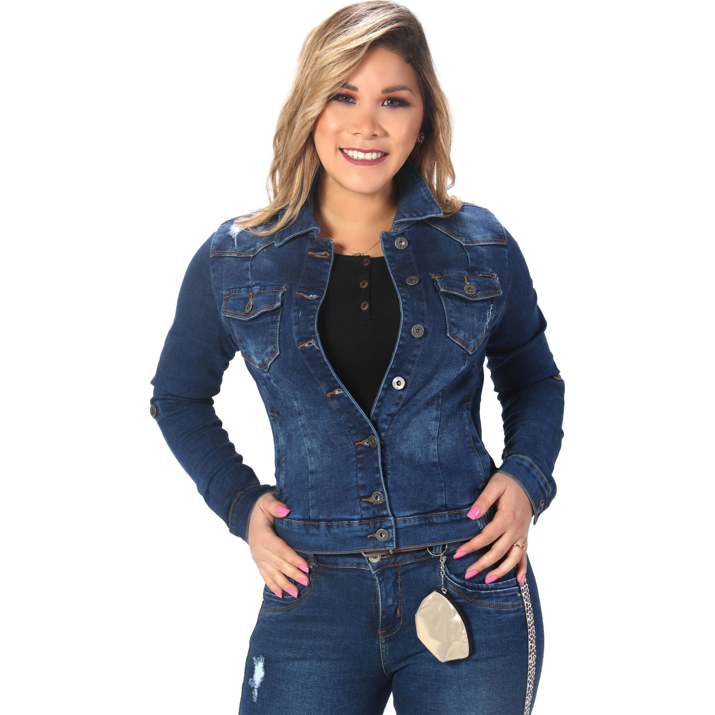 FORDAN JEANS casaca jean 354 DIRTY BLUE Denim Sacos