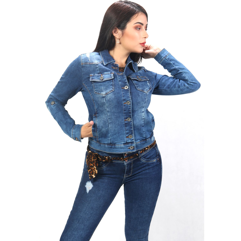 FORDAN JEANS casaca jean 354 MID BLUE Denim Sacos