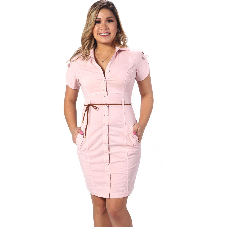 FORDAN JEANS vestido jamper 550 Rosado Casual