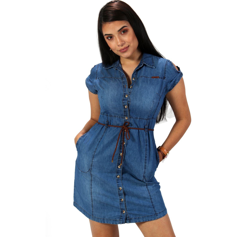 FORDAN JEANS vestido jean 636 USED BLUE Casual