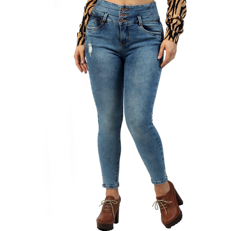 FORDAN JEANS pantalon jean 634 GREEN BLUE Jeans