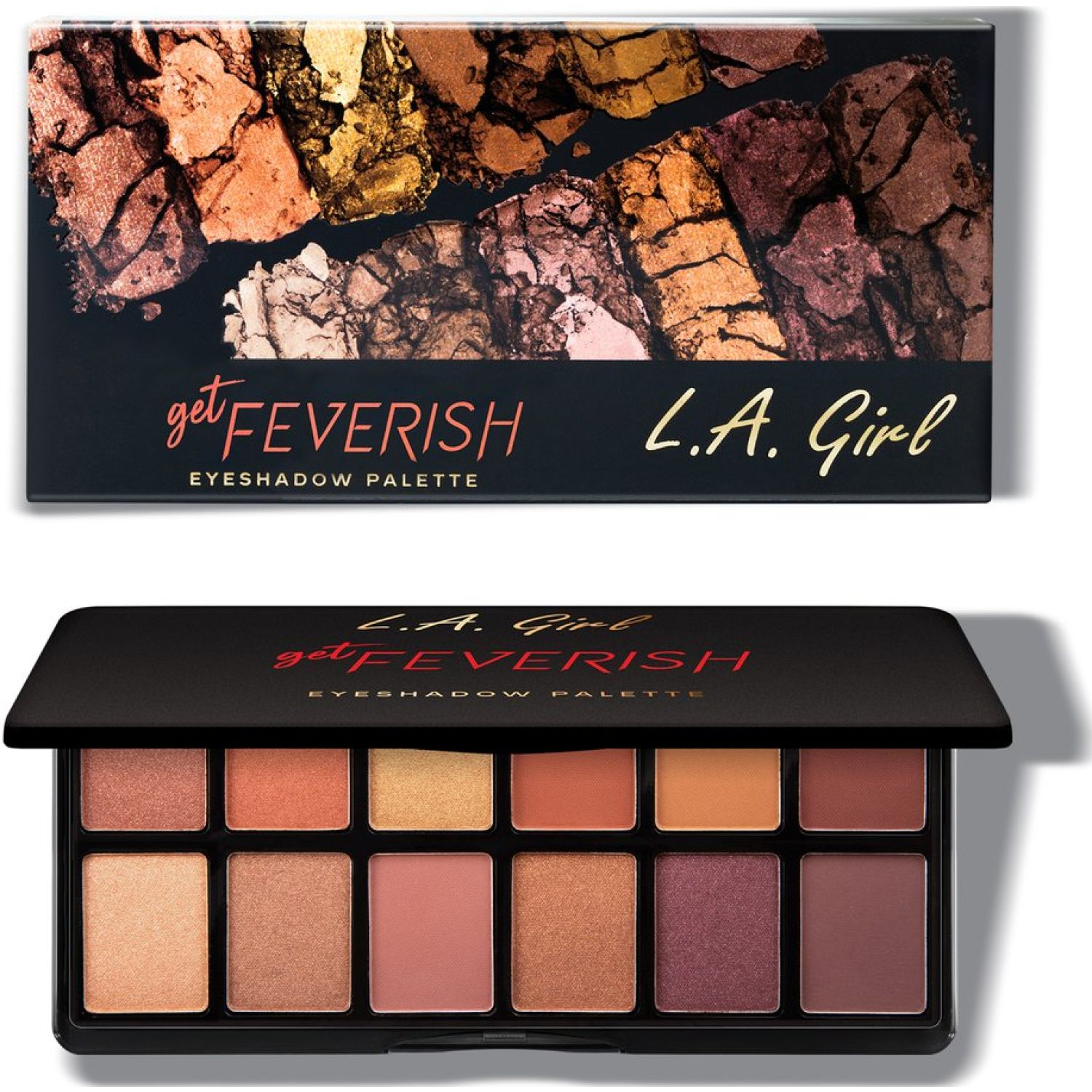 L.a. Girl Fanatic Eye Shadow Palette GET FEVERISH Sombras para ojos