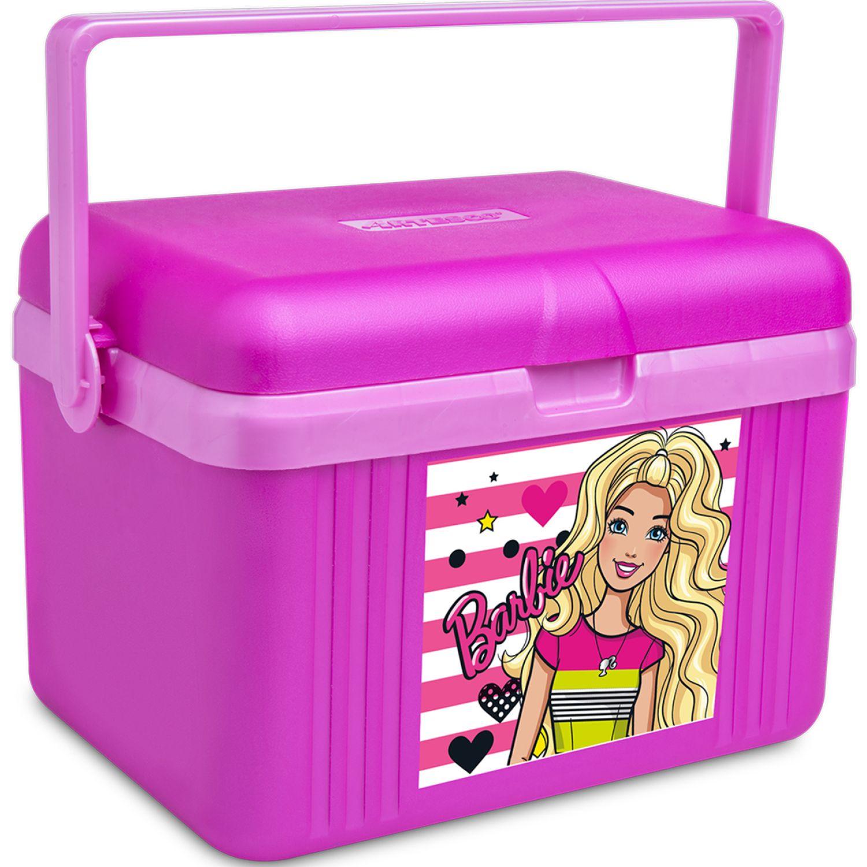 Barbie Cooler Mattel 4.5 L. Tapa/Base Fucsia