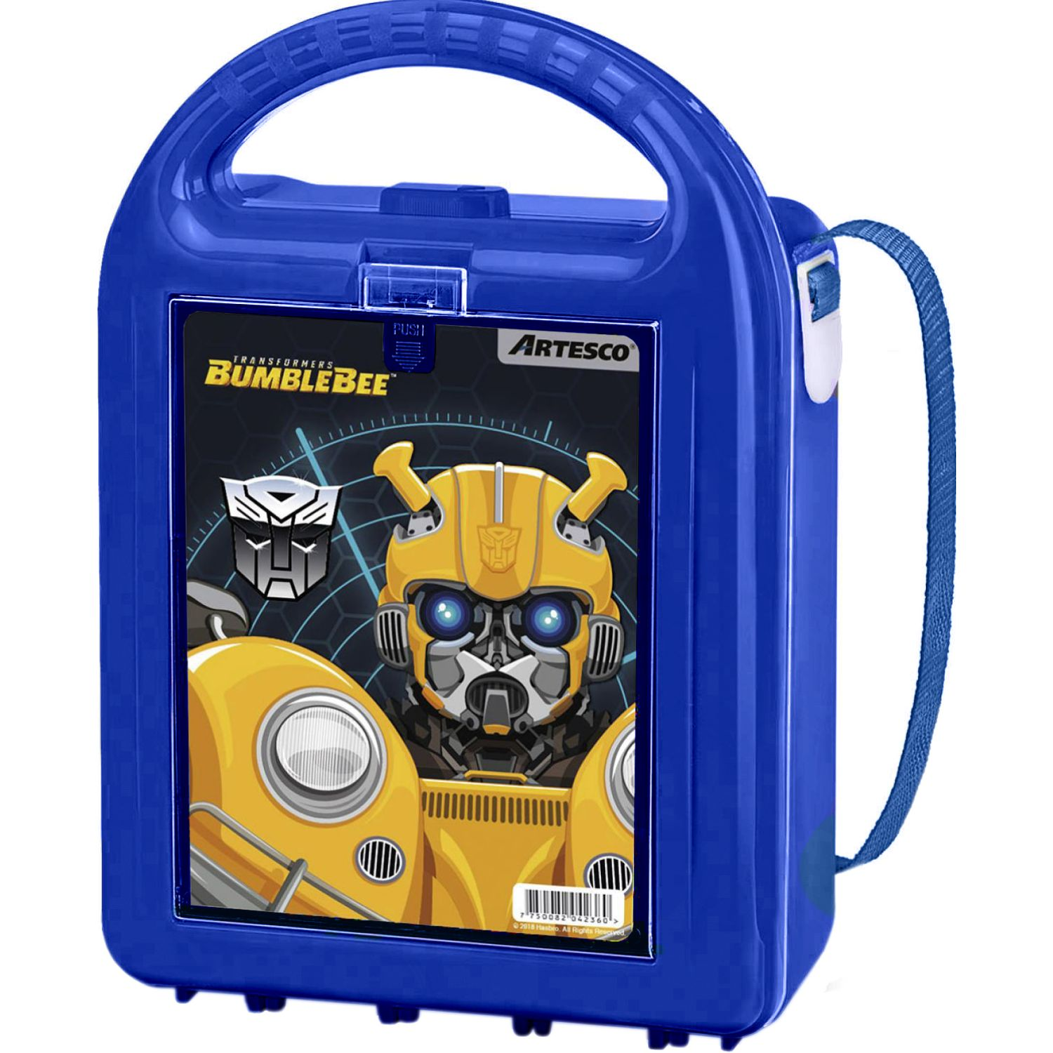 Transformers Lonchera Hasbro Nutribox C/Tapers Azul Loncheras
