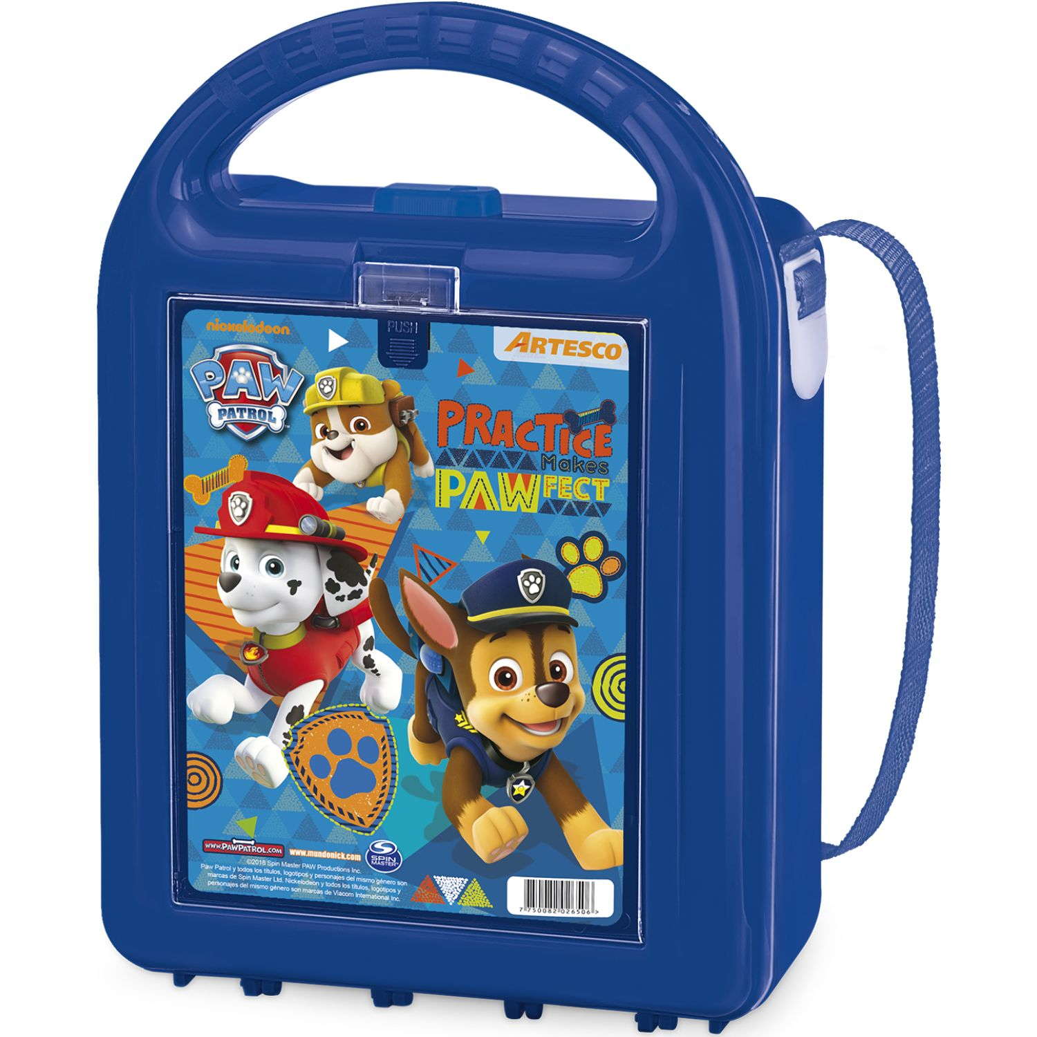 Paw Patrol lonchera sm nutribox c/tapers Azul