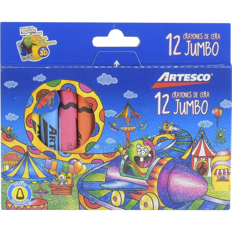Artesco CRAYONES JUMBO X 12 UNDS. Varios Lápices de color