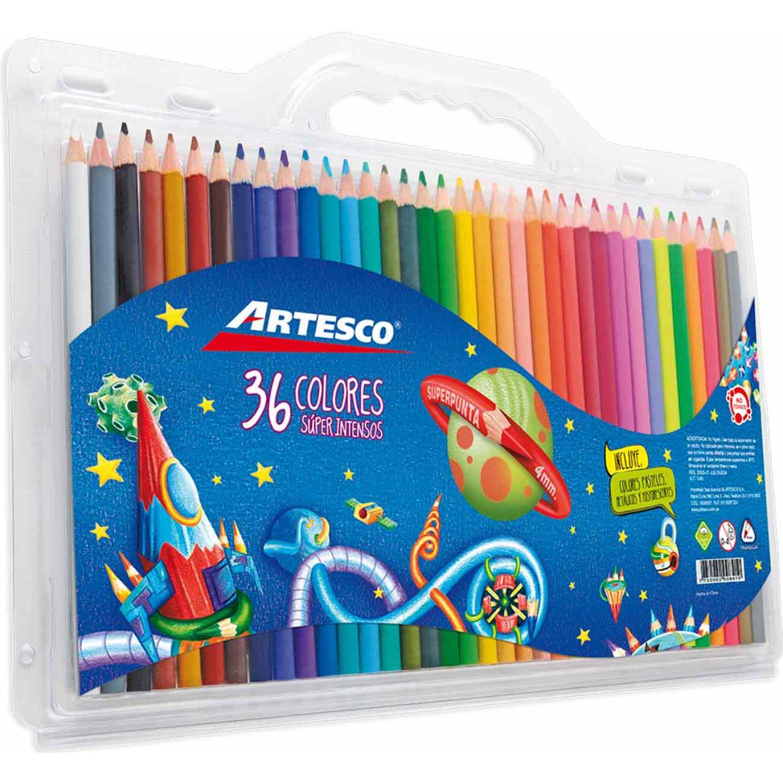 Artesco COLORES TRIANGULARES X 36 UNDS. Varios Lápices de madera coloreados