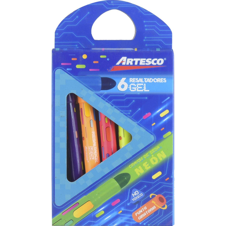 Artesco Crayon De Seda X 6 Unds. Varios Crayolas
