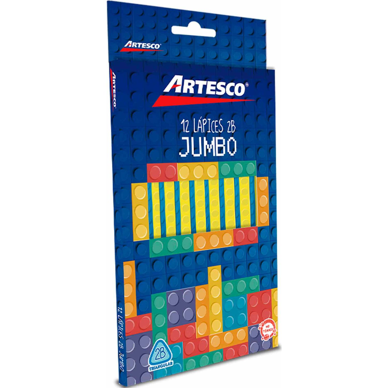 Artesco Lapiz Grafito Jumbo C/Bx 12 U. Varios Lápices de madera