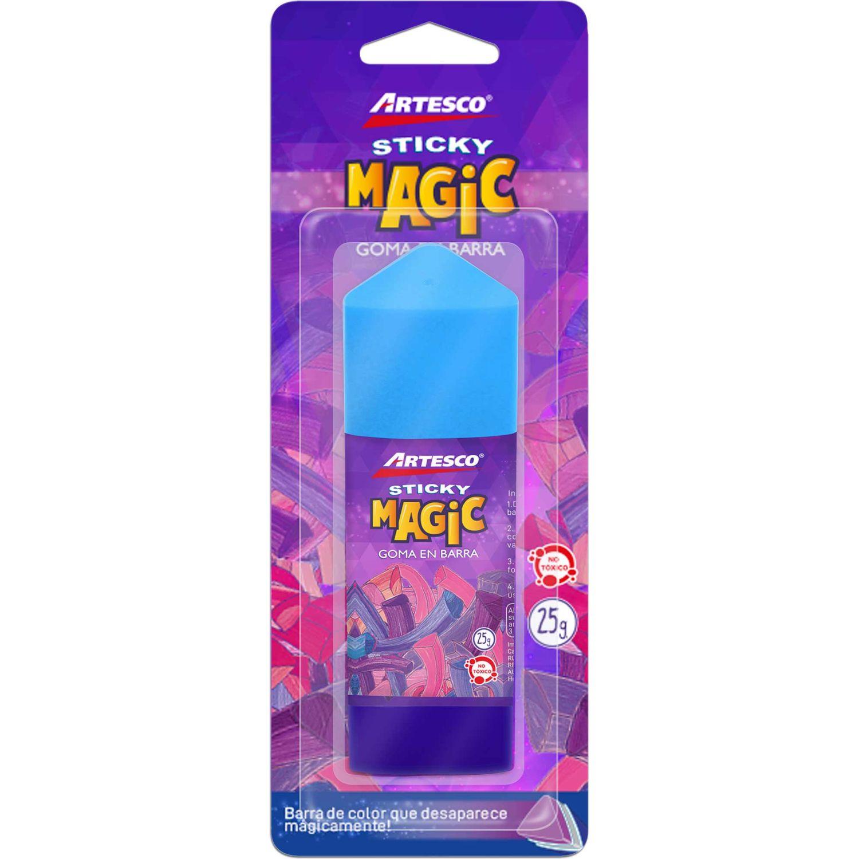 Artesco Goma En Barra Sticky Magic25 Gr. Sin color Pegamento en barra y lápices
