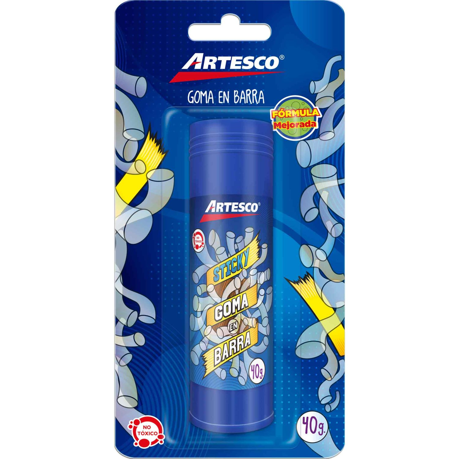 Artesco GOMA BARRA STICKY 40 GRS. Sin color Barras de pegamento y lápices