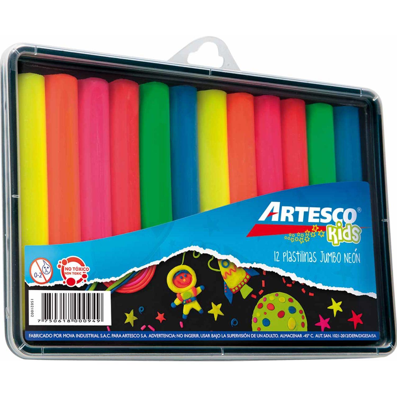 Artesco PLASTILINAS JUMBO NEÓN X 12 UNDS. Varios Arcilla y la pasta