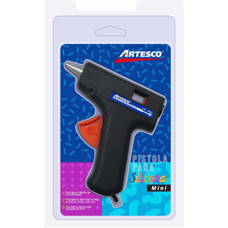 Artesco Pistola Mini Para Silicona 15 W Negro / naranja Pistolas de pegamento