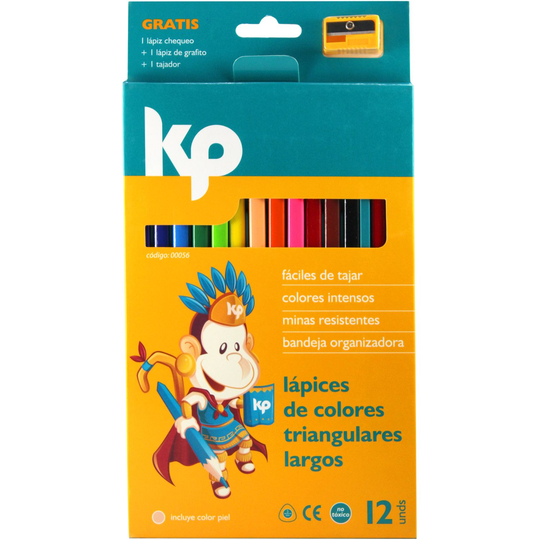 KP Color Triangular X 12) Varios Lápices coloreados