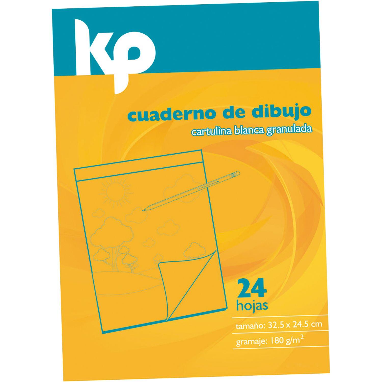 KP block cartulina 24 hoj Blanco blocs de notas