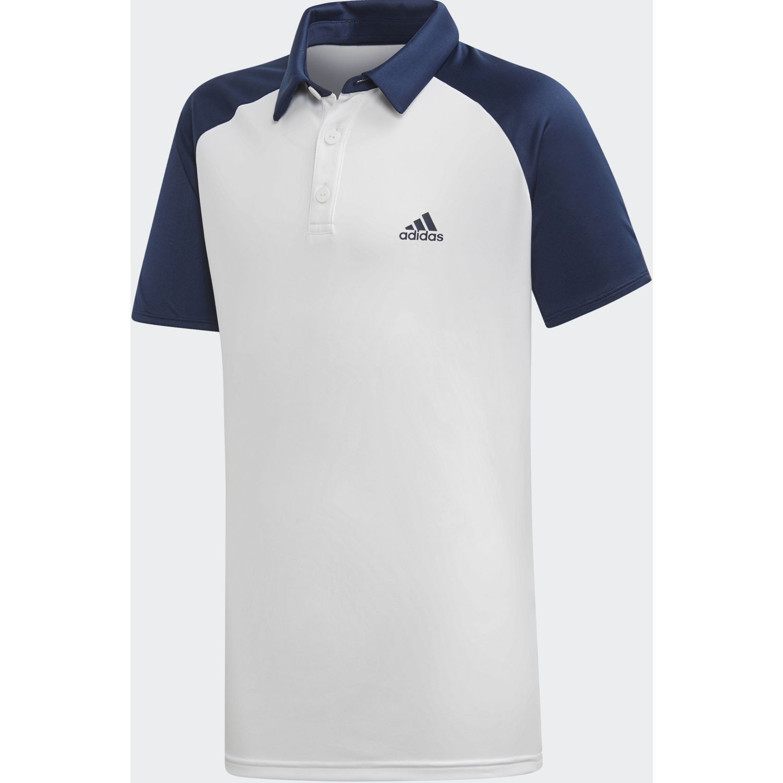 Adidas b club polo Blanco / Navy Camisetas y Polos Deportivos