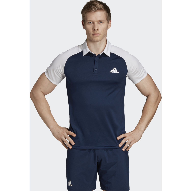 Adidas club c/b polo Navy / Blanco Camisetas y Polos Deportivos