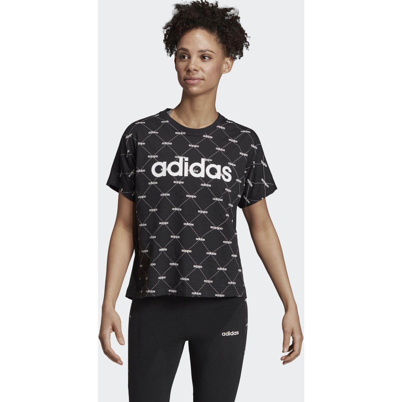 Adidas w core fav t Negro / blanco Polos