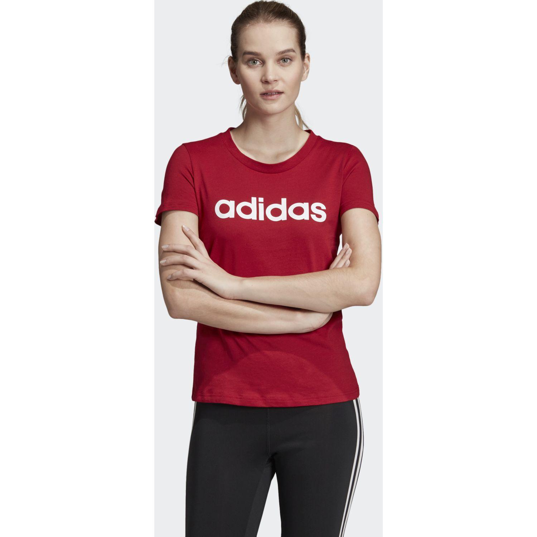 Adidas w e lin slim t Rojo / blanco Polos