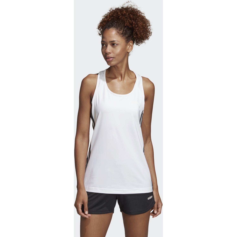 Adidas W D2m 3s Tank Blanco / negro Camiseta sin mangas