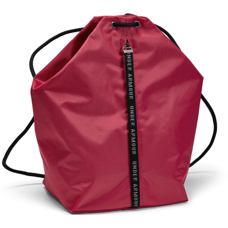 Under Armour essentials sackpack-pnk Rosado / negro bolsos de lazo