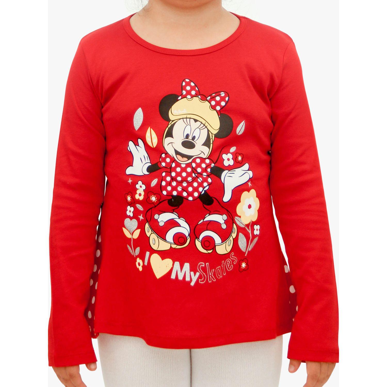 Minnie polo estampado manga larga Rojo Polos