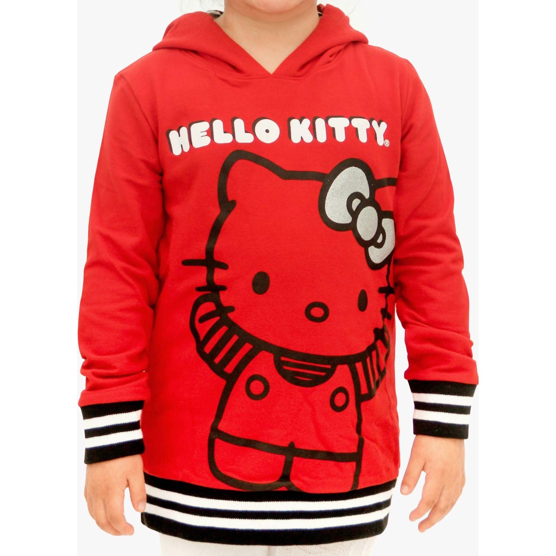 Hello Kitty poleron estampado con capucha Rojo Sweatshirts Deportivos