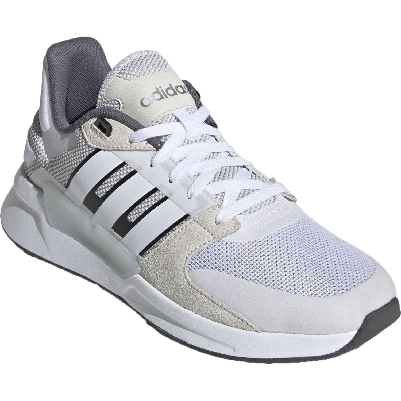 Adidas run90s BLANCO / PLOMO Running en pista