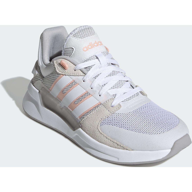 Adidas run90s Blanco / Melon Running en pista