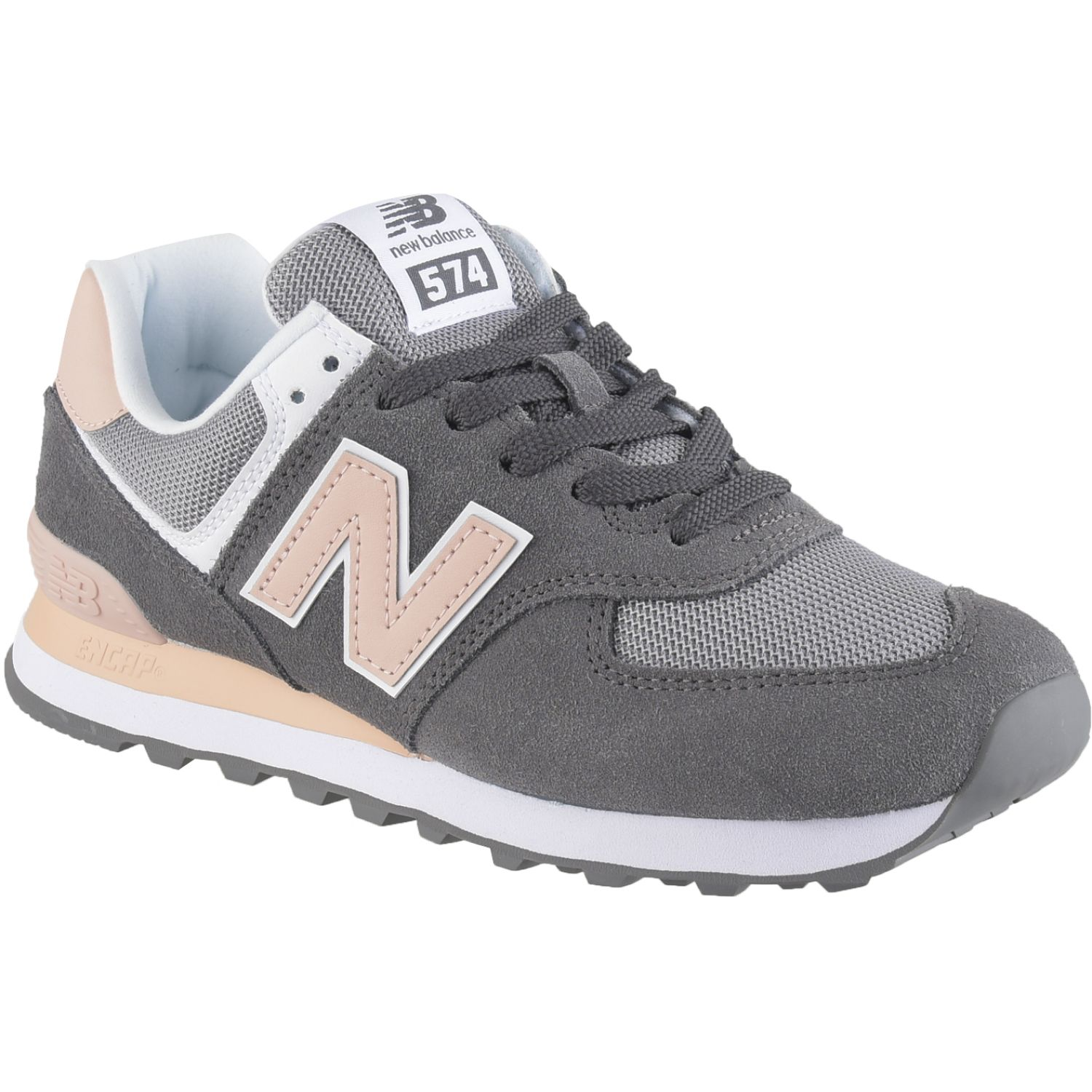 New Balance 574 Gris / rosado Walking