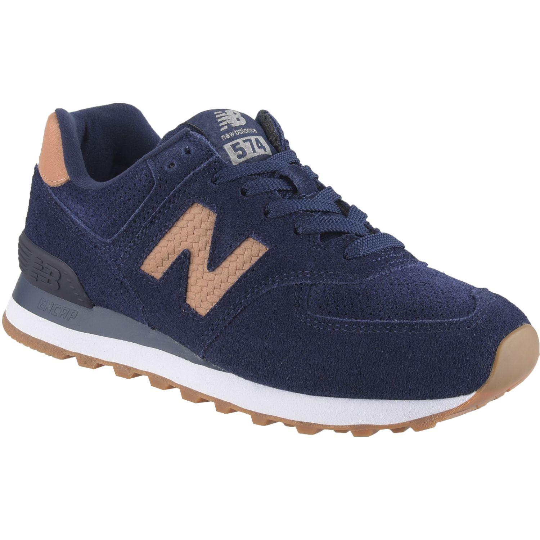 New Balance 574 Azul / naranja Walking