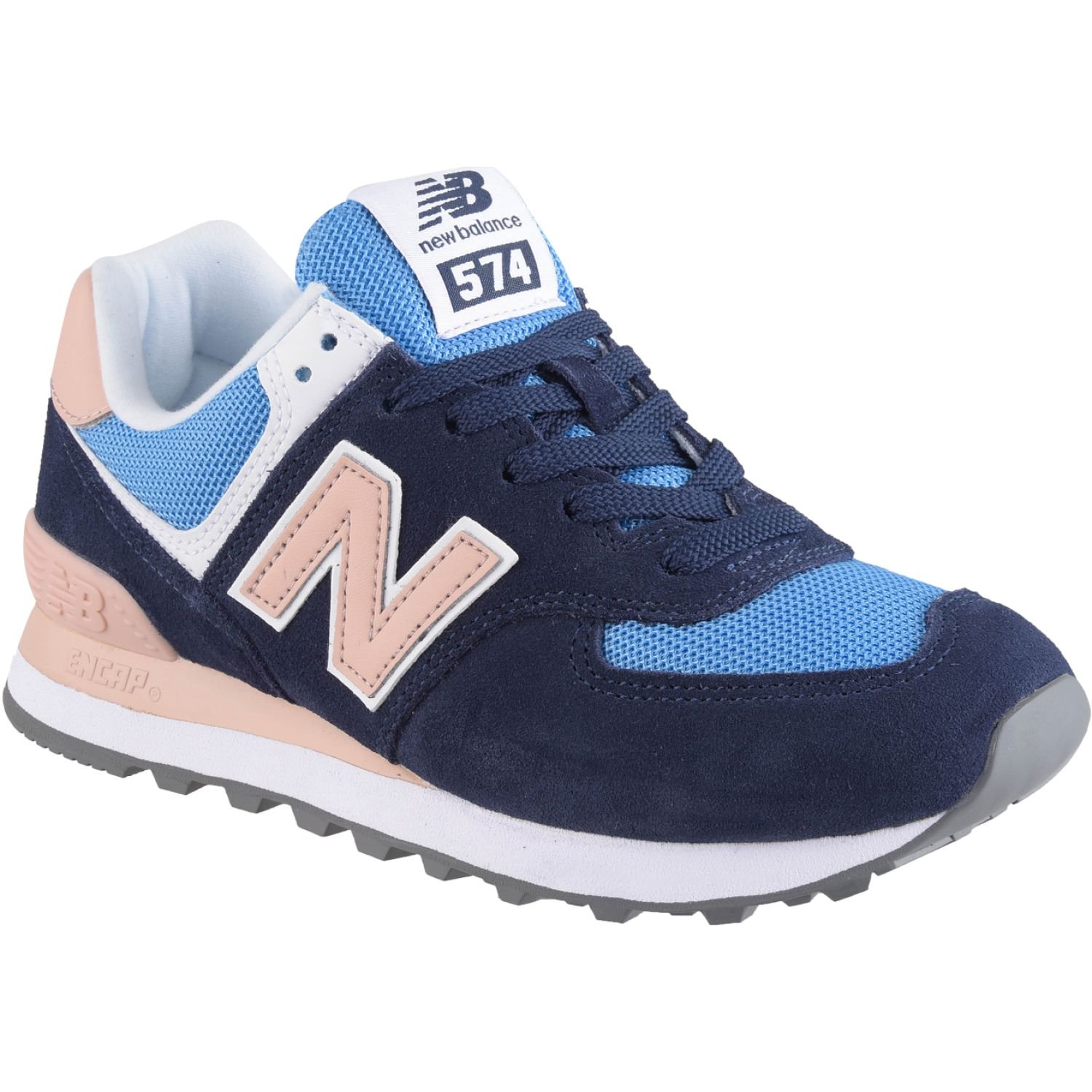 New Balance 574 Azul / rosado Walking | platanitos.com