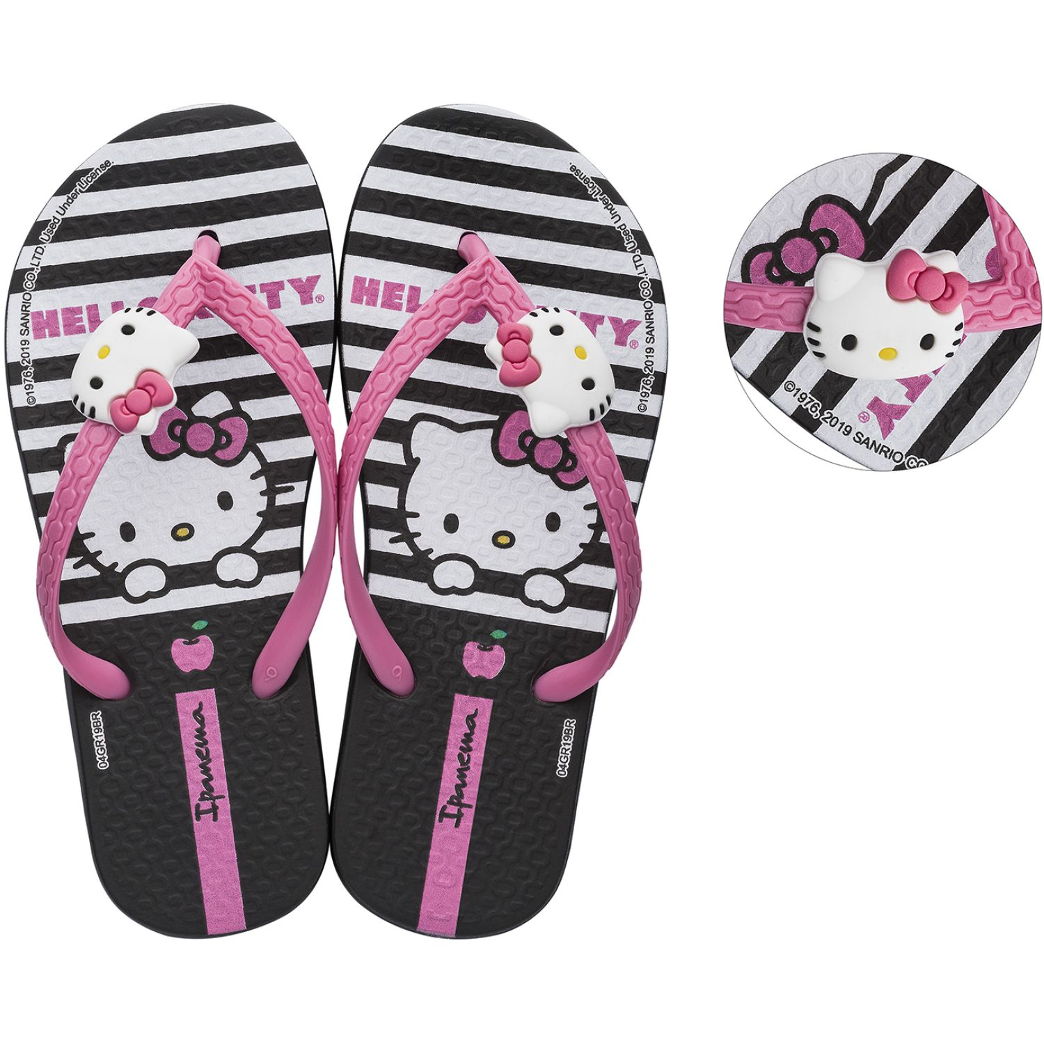 Hello Kitty ipanema hello kitty fashion Negro / rosado Sandalias