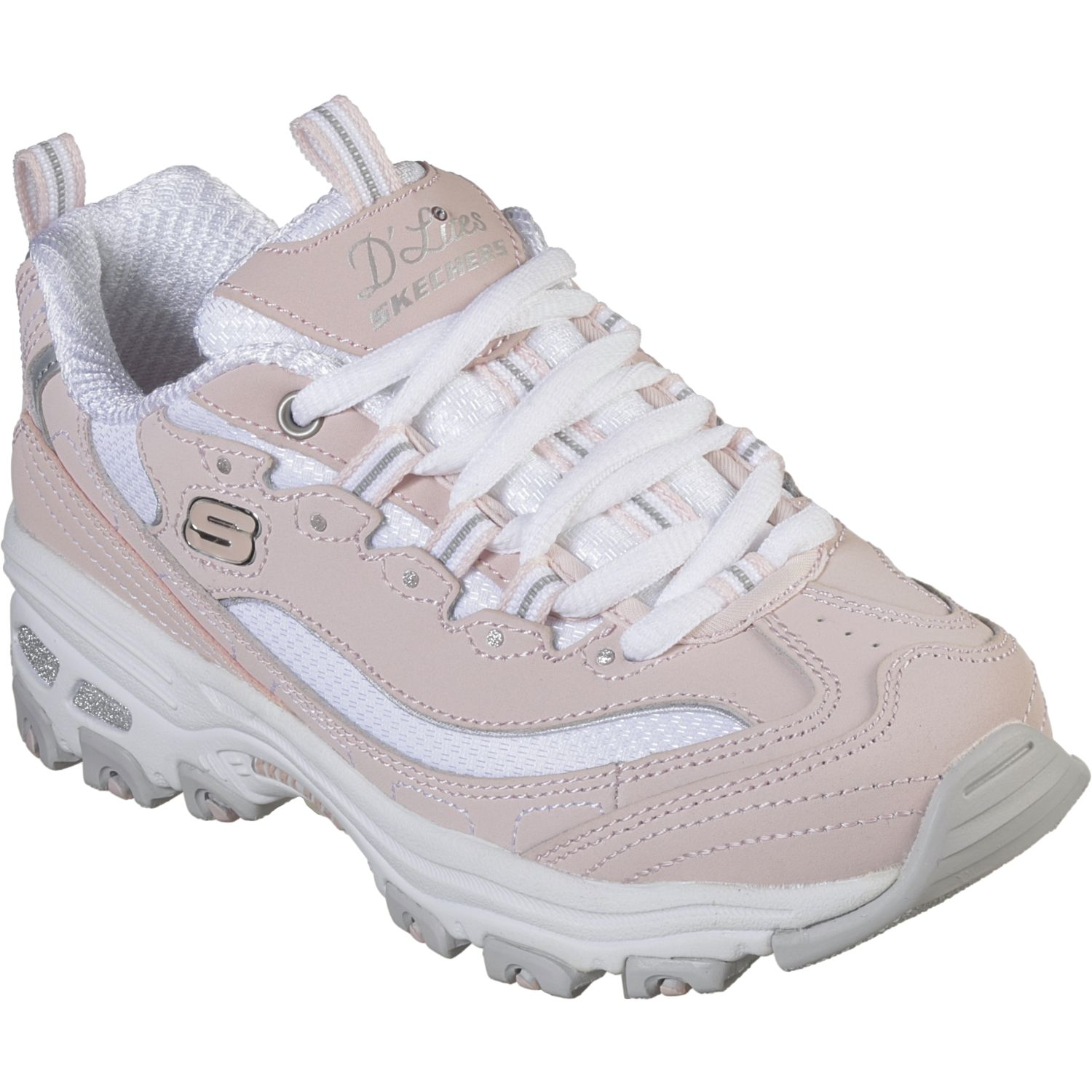 Skechers d'lites - biggest fan Rosado / blanco Walking