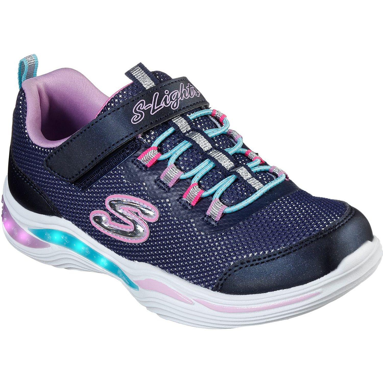 Skechers power petals Azul / rosado Walking