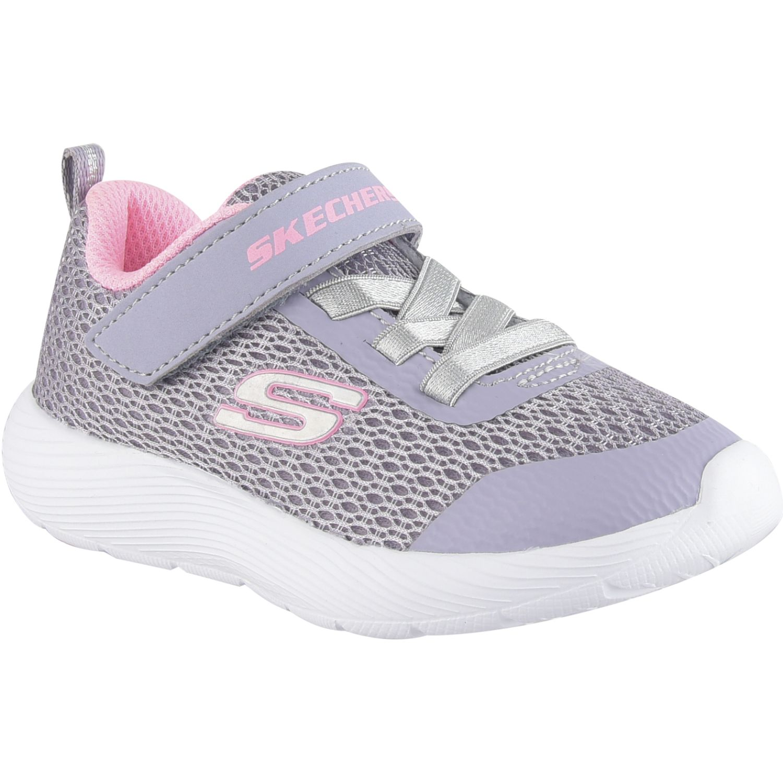 Skechers dyna-lite Gris / rosado Walking