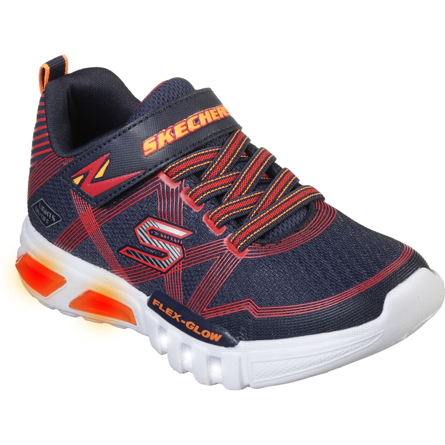 Skechers FLEX-GLOW Azul / rojo Walking