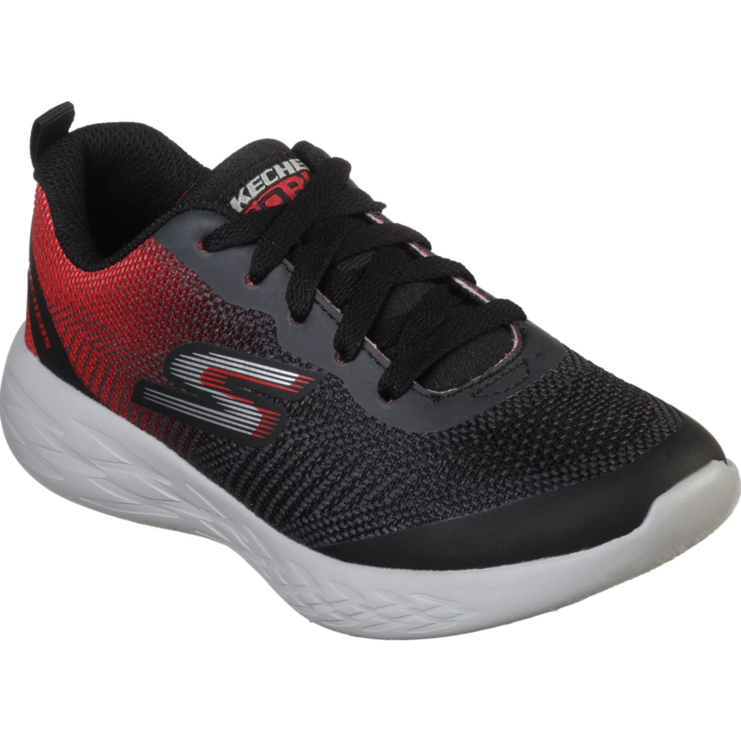 Skechers go run 600 - haddox Negro / rojo Walking