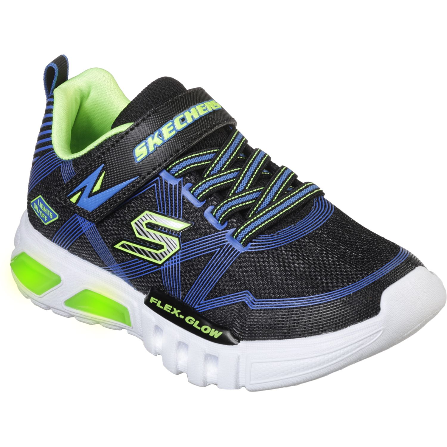Skechers flex-glow Negro / azul Walking