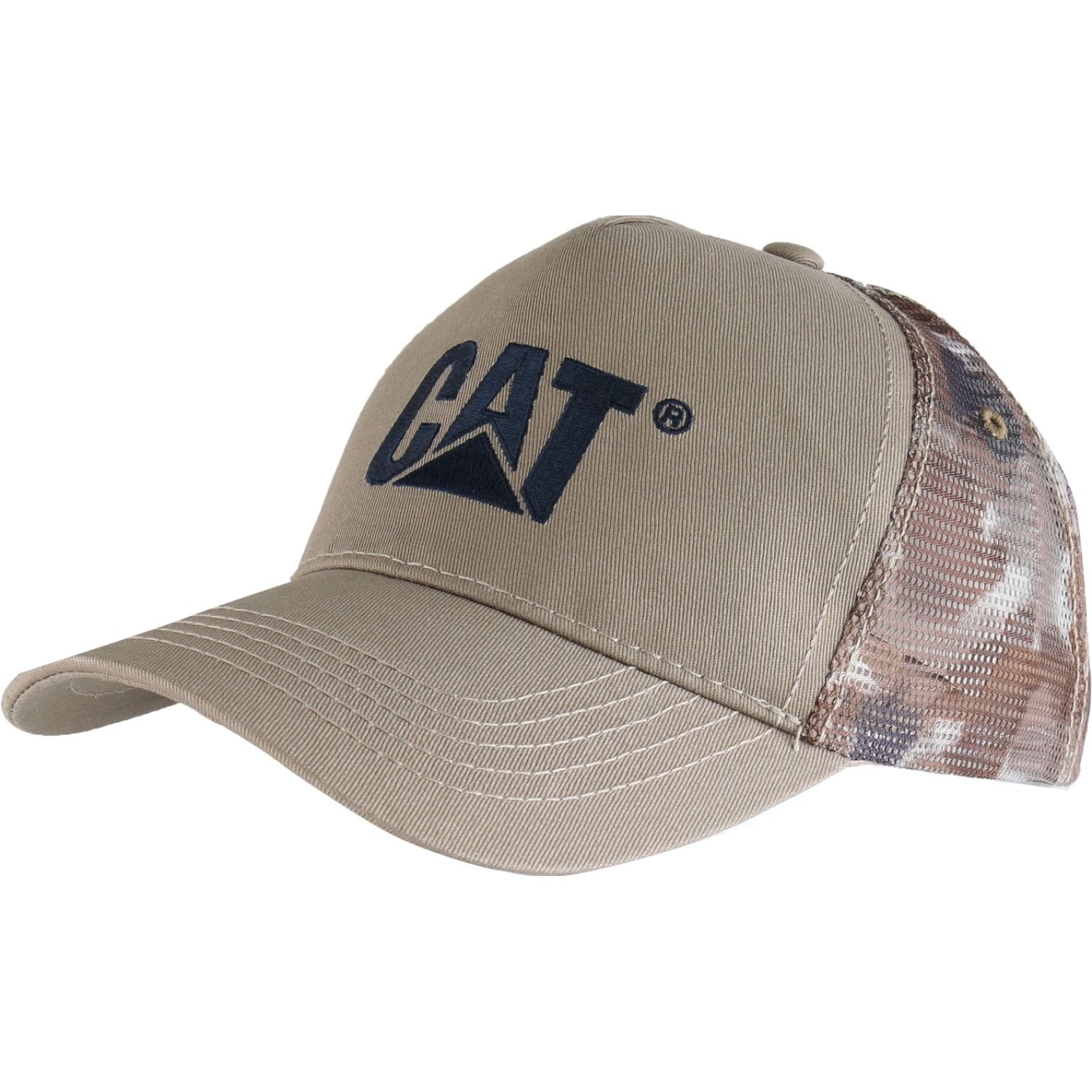 CAT design mark mesh hat Crema