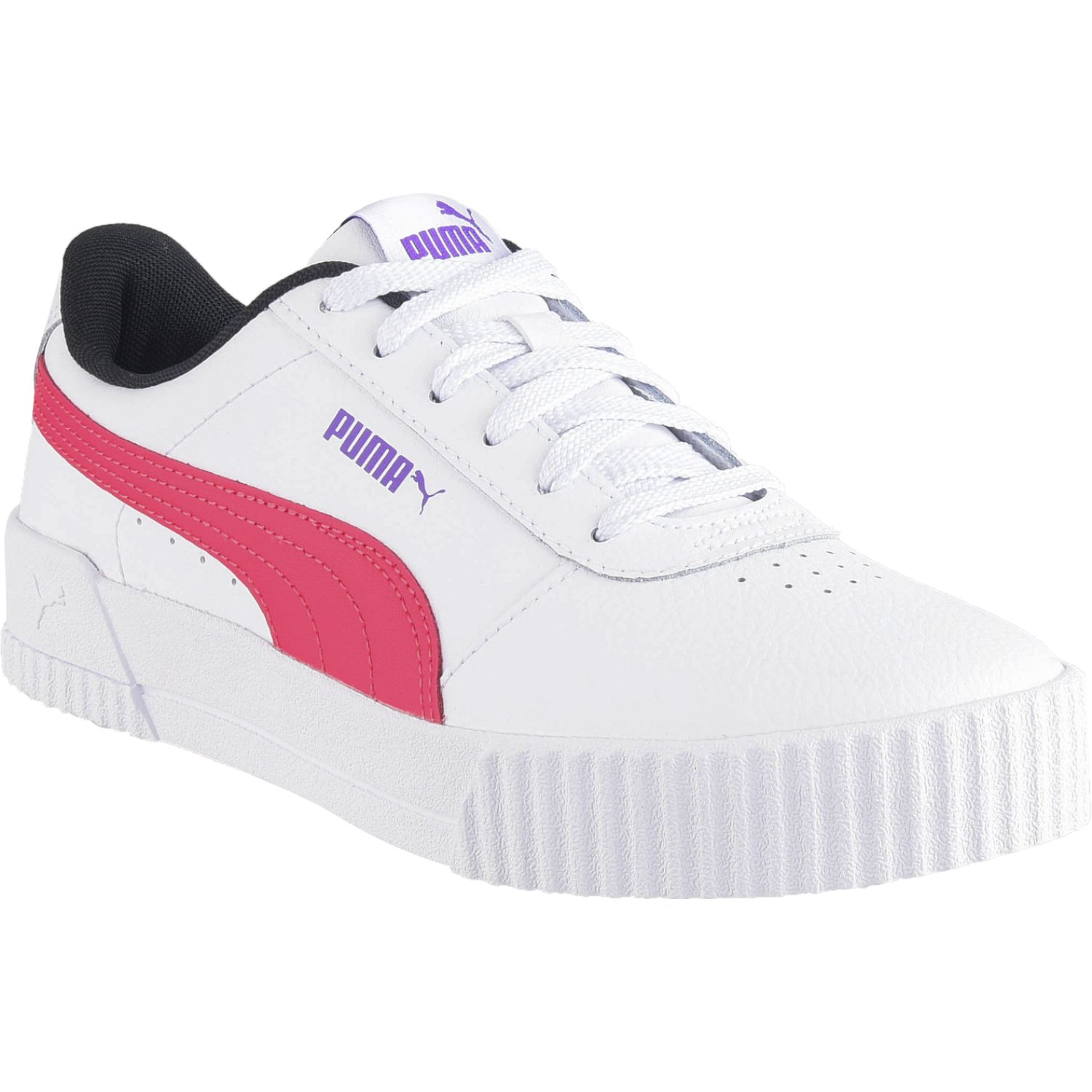 Puma carina l Blanco / fucsia Walking